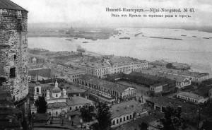 Вид из Кремля на торговые ряды и город