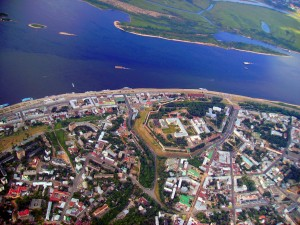 Фото Нижнего Новгорода с самолета.