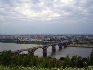 Молитовский мост - вид на автозавод.